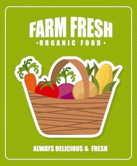 農場の新鮮なポスター