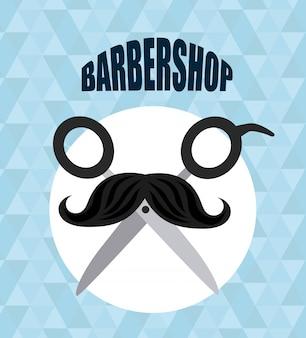 理髪店のロゴタイプ