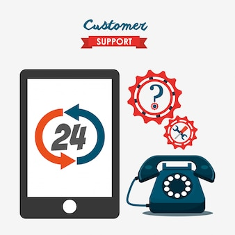 Иллюстрация обслуживания клиентов