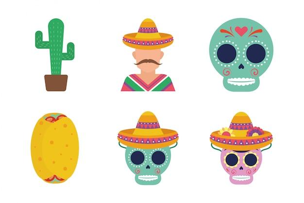Мексиканский набор иконок