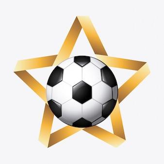 Футбольный мяч со звездой