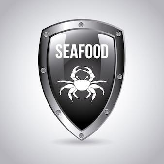海の食べ物エンブレム
