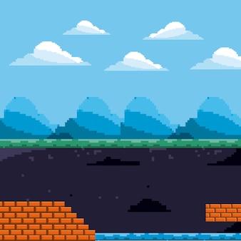 Пиксельная игровая сцена