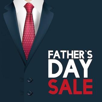 Счастливая отцовская открытка с элегантным мужским костюмом