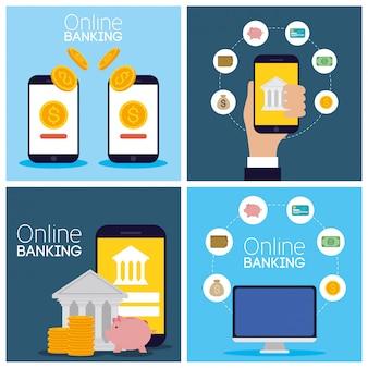 電子機器によるオンライン技術のバンキング