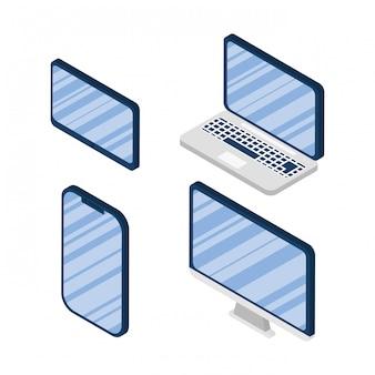 Набор иконок устройств электроники