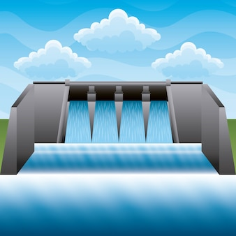 水力発電所の電力エネルギークリーン