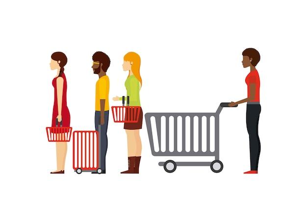 人々のショッピングデザイン