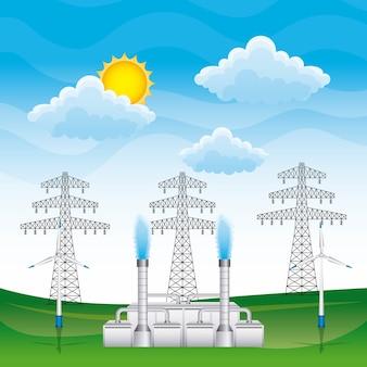 Векторная иллюстрация возобновляемых источников энергии