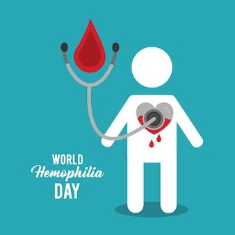 Всемирный день смерти гемофилии аватар кровь сердце стетоскоп