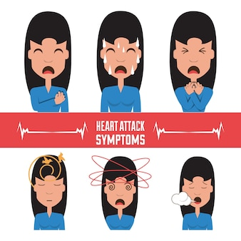 セット女性の心臓発作の症状
