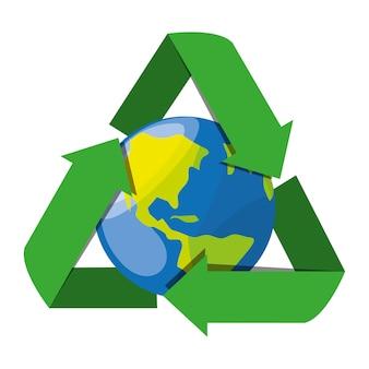 Символ рециркуляции для сохранения планеты