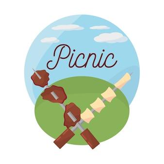 ピクニックのおいしい食事