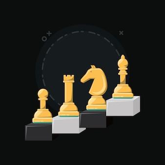 Шахматная игра с кусками