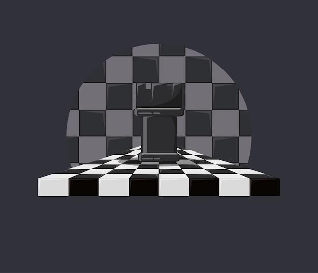 Шахматная игра с грачей на шахматной доске