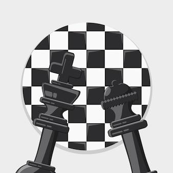 Дизайн шахматной игры с королем и королевой