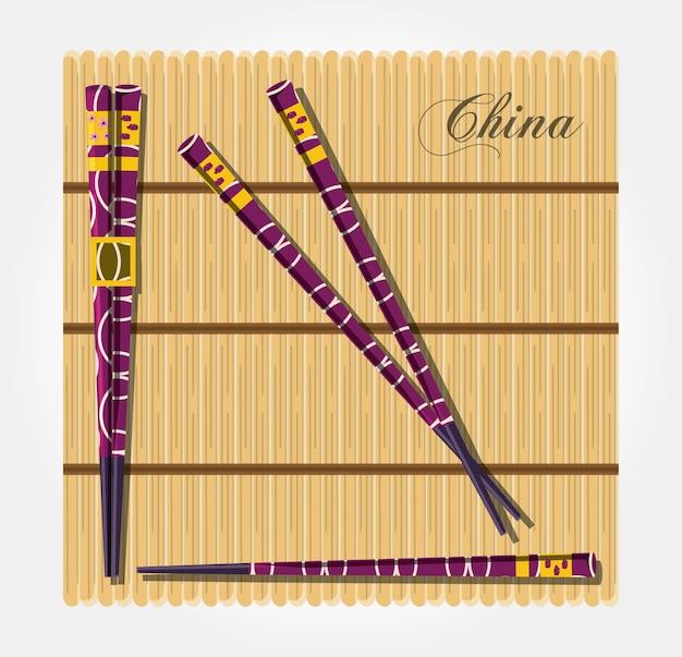 中国文化箸アイコン
