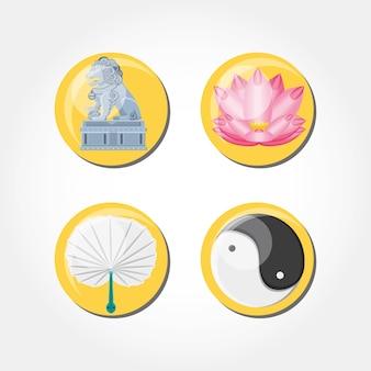 中国文化セットのアイコン