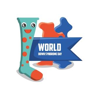 Дизайн дневного синдрома с мультяшным красочным носком