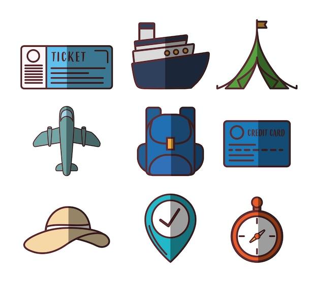 Значки, связанные с путешествием