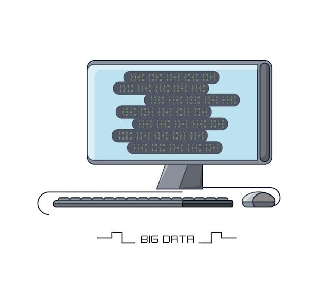 Большие данные с иконкой компьютерного устройства