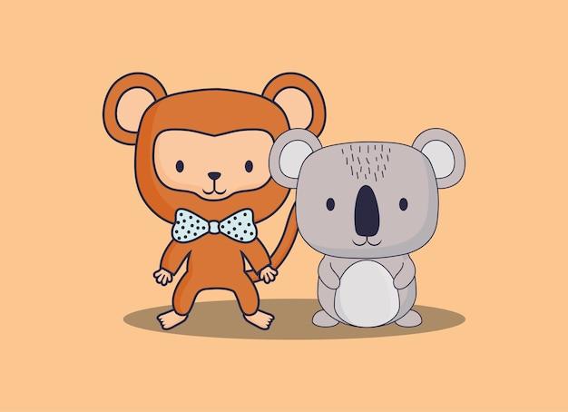 Милая обезьяна и коала