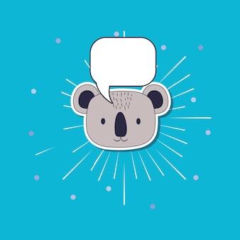 Милый коала и речевой пузырь
