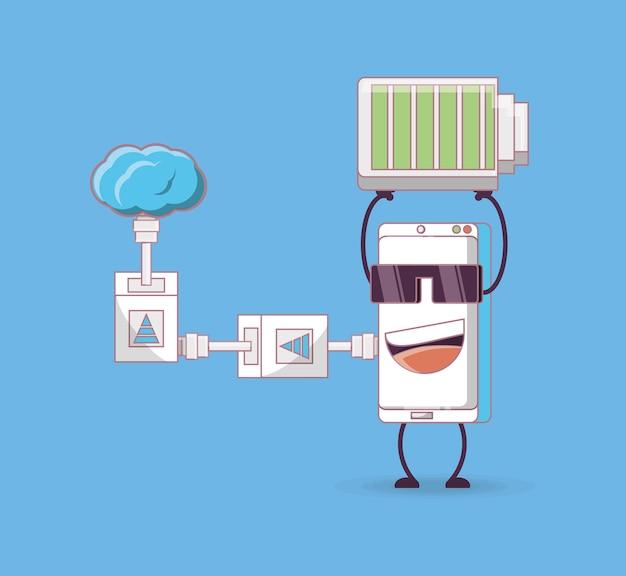 Дизайн мультяшных смартфонов