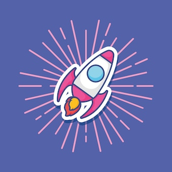 宇宙ロケットアイコン