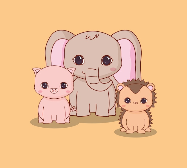 かわいい動物のデザイン