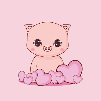 かわいい動物や愛のデザイン
