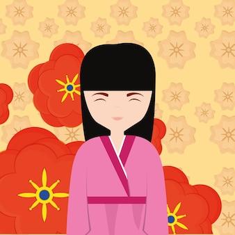 アジアの女性のアイコン