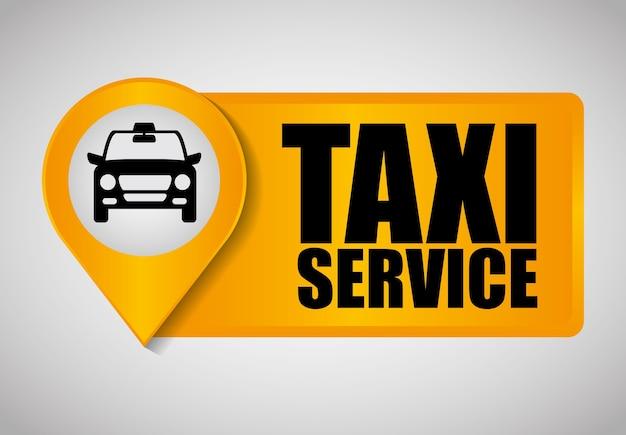 車のタクシーアイコン。公共交通機関の設計。タクシー。フラットスタイル