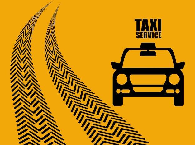 Значок автомобиля такси. проектирование общественного транспорта. такси. плоский стиль