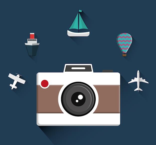 旅行アイコンのデザイン