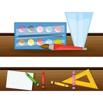 教育を勉強するためのアクセサリー学校のツール