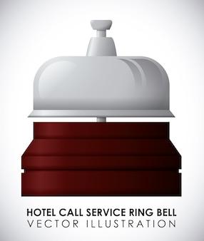 ホテルのデザインは、白い背景ベクトル図