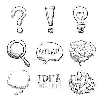 白い背景のベクトルイラスト以上のアイデアデザイン