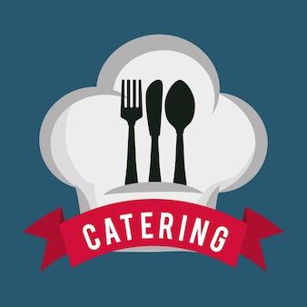ケータリング食べ物サービススプーンフォークナイフ帽子の形