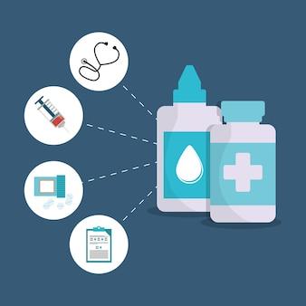 ボトルの薬の健康管理項目