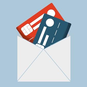 Кредитные карты банковского конверта