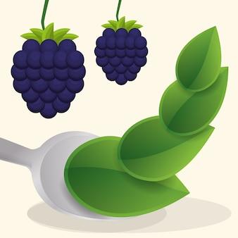ブルーベリービーガンフルーツの新鮮な食べ物