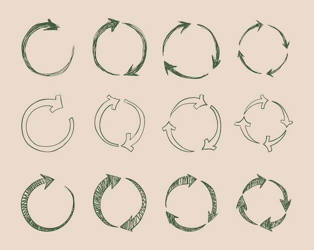 矢印は、白い背景ベクトル図の上にデザイン