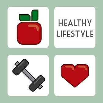 白い背景ベクトル図の上に健康的なデザイン
