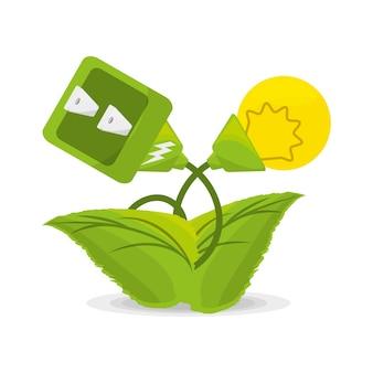 地球を救う代替エネルギーに関連するプラント
