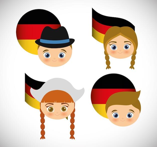 伝統的なドレスのドイツ人
