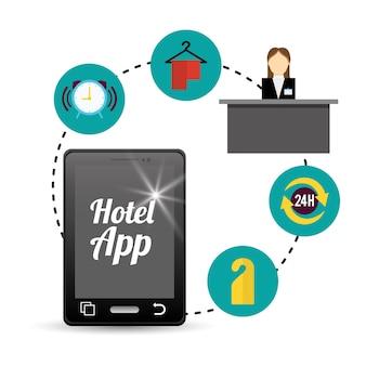 スマートフォンとホテルのデジタルアプリケーションの設計