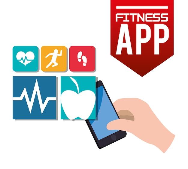 フィットネスアプリの技術アイコン