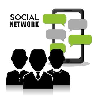 ソーシャルネットワークのベクターデザイン