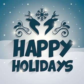ハッピーホリデーとメリークリスマスカード